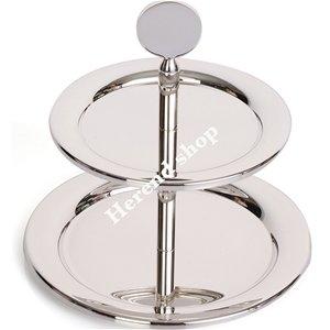 Gümüş Kaplama İki Katlı Küçük Servis
