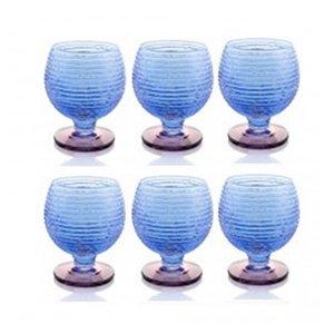 6 lı Ayaklı bardak seti (Mavi)