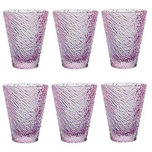 6 lı Su / Meşrubat Bardağı (Pembe)