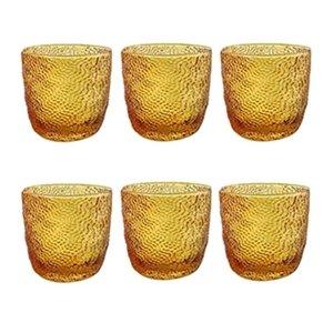 6 lı Su / Meşrubat Bardağı (Amber)