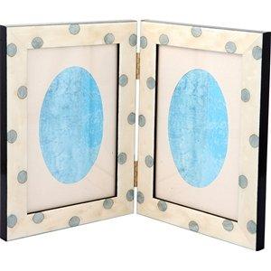 Pois Bianco\Azzurro Doppia 10x15 Çerçeve