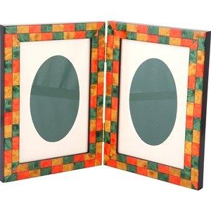 Mosaico Verde Doppia 10x15 Çeçeve