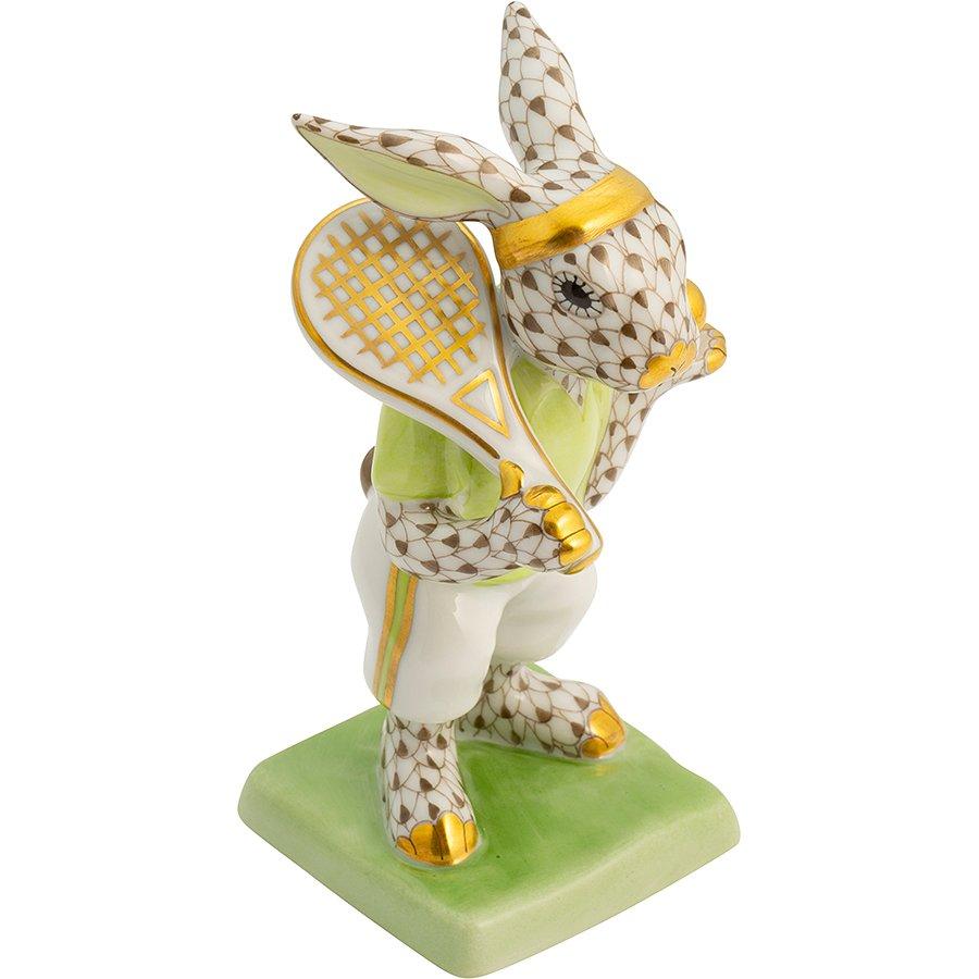 Tenis Oynayan Tavşan Biblo