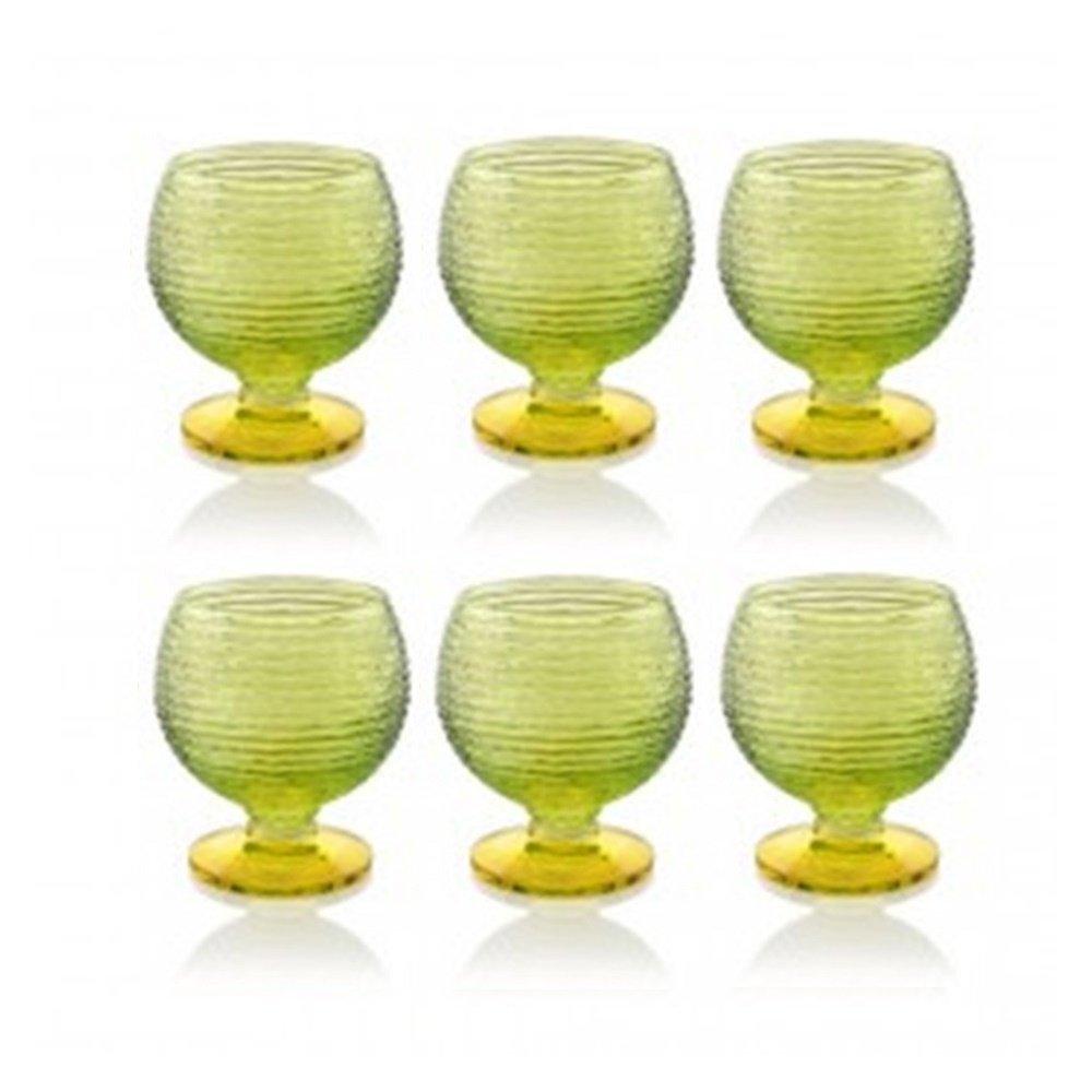 6 lı Ayaklı bardak seti (Yeşil)