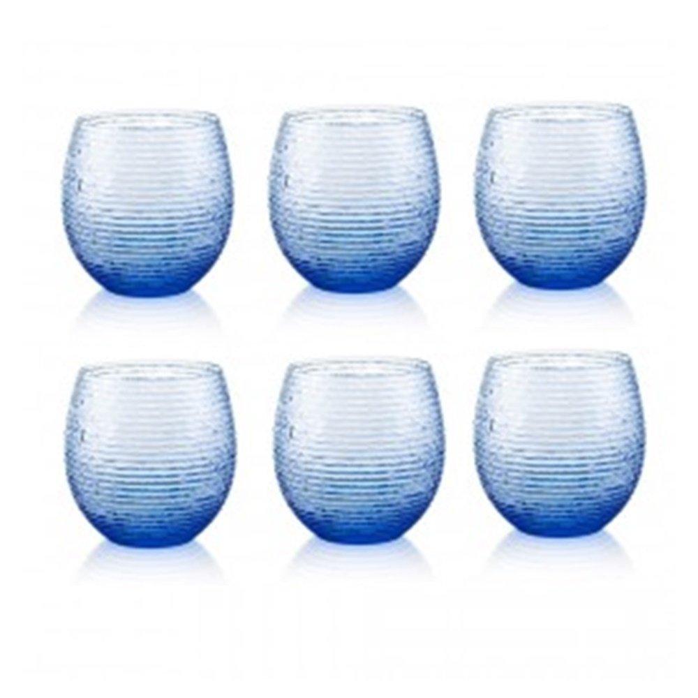 6 lı Su / Meşrubat Bardağı (Mavi)